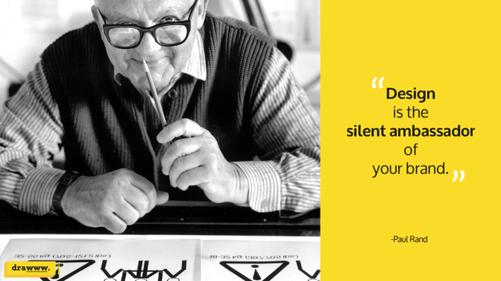 Famous logo designer Paul Rand quote on branding