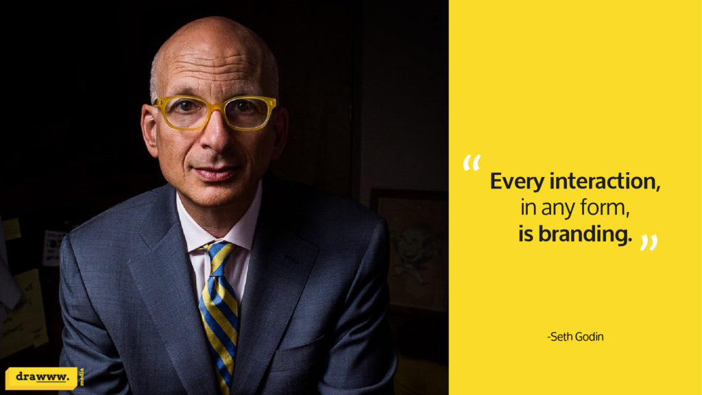 Marketing expert Seth Godin quote on branding