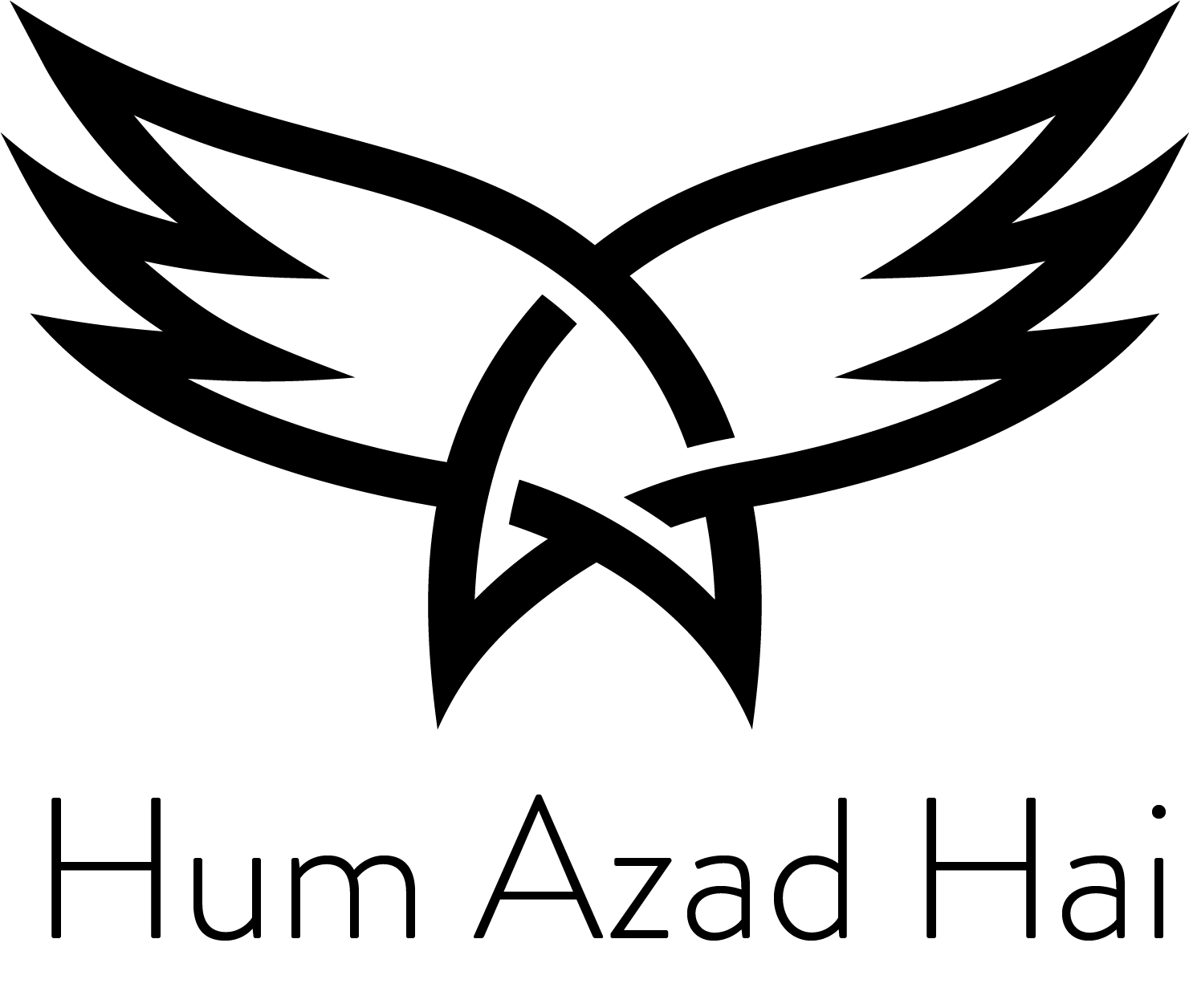 The old logo of Hum Azad Hai, a Welfare NGO based in Aurangabad